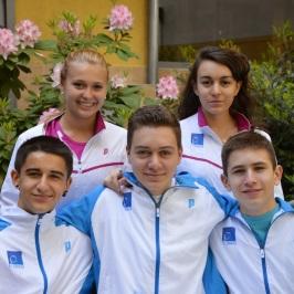 Europe u17 2014 Prague Enzo CORIGLIANO-Laura GAMBLIN-Lucas ROUSSELET-Elise ROMBA-Benjamin AUBERT
