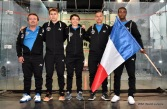 Fred LECOMTE (Coach)-Benjamin AUBERT- Victor CROUIN-Rohan MANDIL-Sébastien BONMALAIS
