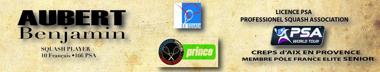 AUBERT Benjamin squash player 10 Français #166 PSA classement  octobre 2016  180 PSA