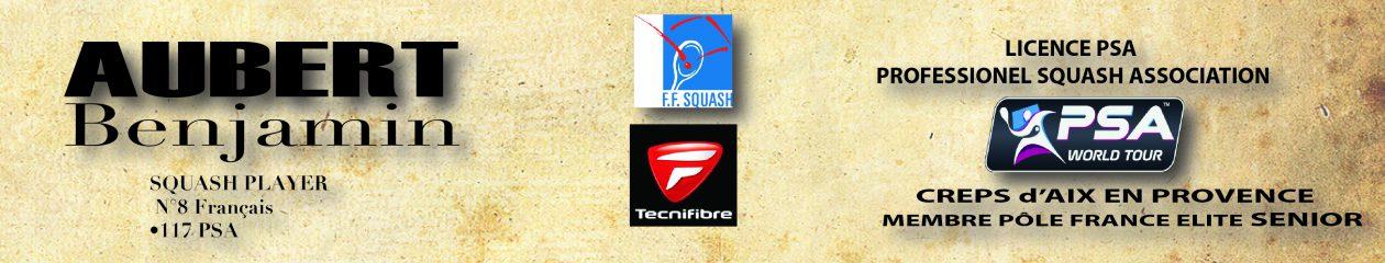 AUBERT Benjamin squash player 8 Français #117 PSA classement  janvier 2018
