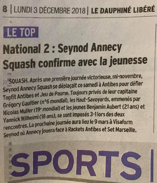 PRESSE ANNECY